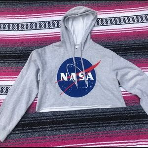 NASA cropped sweatshirt